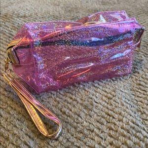 Iridescent Pink Cosmetics Bag